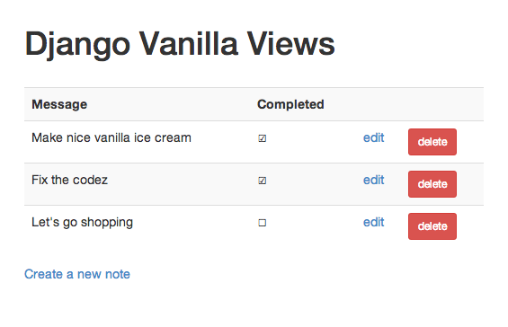 Django Vanilla Views